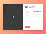 Contact Us Page Design by Rodrigo Borges - Freebie Supply