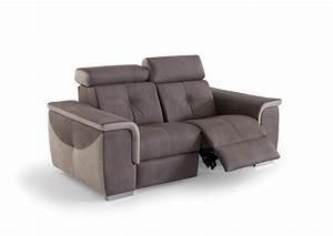 acheter votre canape 2 places moderne avec relax With nettoyage tapis avec canape electrique 2 places relaxation