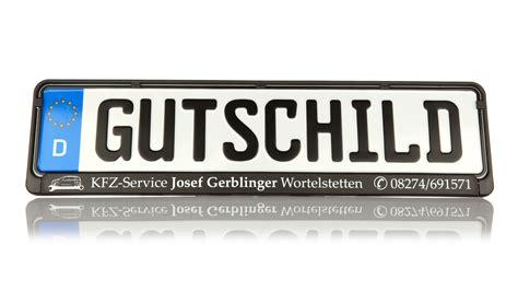 kennzeichenhalter mit logo nashville print factory 2 st 252 ck kennzeichenhalter schwarz mit wunschtext beschriftet