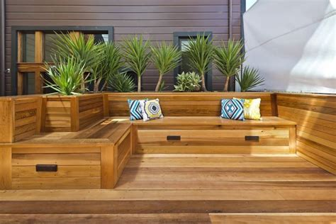 built in patio bench seating duboce triangle townhouse with roof deck bench storage