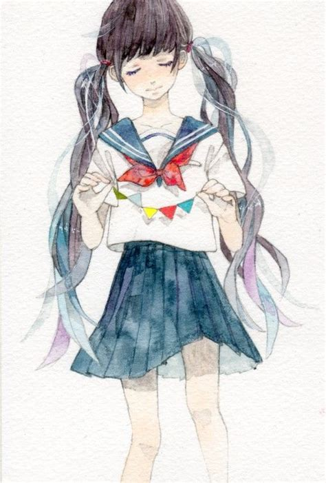 watercolor anime this artist makes painting with watercolor look so easy