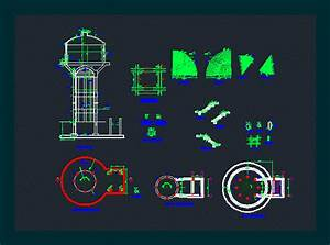 Over Head Tank  Oht  In Autocad