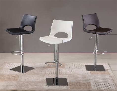 Symphony White Swivel Modern Bar Stools