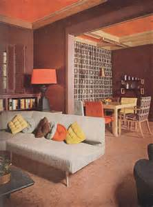 retro home interiors 1953 modern bungalow living room vintage interiors from the mid century midcentury remodel