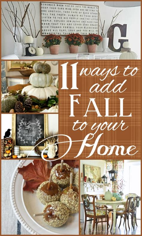 11 Ways To Add Fall To Your Home  Amazing Inspiration