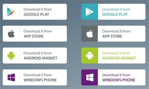 play app for android free app market buttons psd titanui