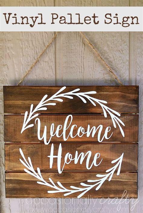 vinyl  home pallet sign  silhouette cut