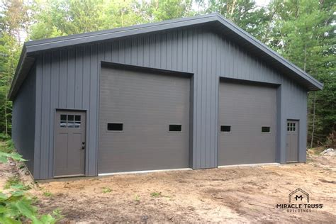 Metal Garage Pics by Easy Assemble Diy Metal Garage Or Shop Miracle Truss