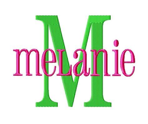 melanie machine embroidery font sizes  buy