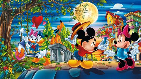 valentine day cartoons mickey  minnie mouse  donald  daisy duck disney pictures love