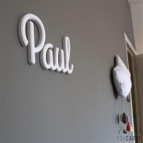 lettre prenom chambre bebe prénom enfant sur mur de chambre lettres en pvc expansé