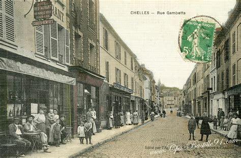 chelles rue gambetta d hier 224 aujourd hui cartes postales anciennes