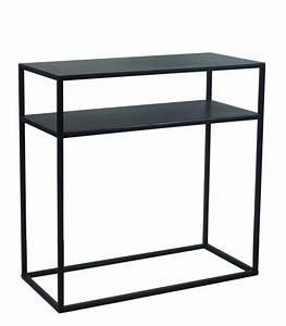 Console Entree Blanche : design black metal console table zen length 60cm ~ Teatrodelosmanantiales.com Idées de Décoration