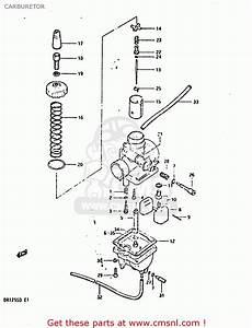 Suzuki Dr125s 1982  Z  Carburetor