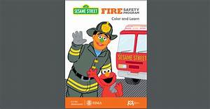 Free Sesame Street Fire Safety Program Color and Learn ...