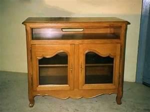 Meuble Tele En Bois : meuble television vitre ebenisterie brettes ~ Melissatoandfro.com Idées de Décoration