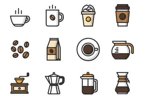 Image discovered by emma <3. Free 12 Vector Coffee Icons - TitanUI