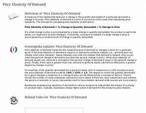 Price Elasticity Of Demand Definition Investopedia