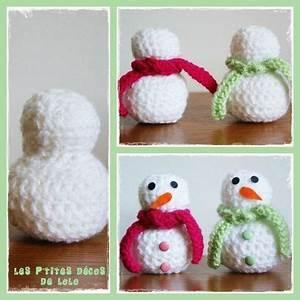 Tuto Sapin De Noel Au Crochet : tuto faire un bonhomme de neige au crochet les p 39 tites d cos de lolo crochet crochet ~ Farleysfitness.com Idées de Décoration