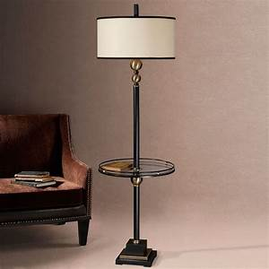 Joaquin, Floor, Lamp, With, Attached, Glass, Table