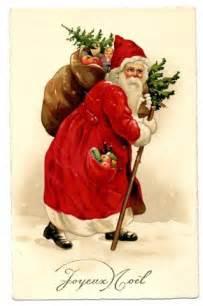 Vintage Victorian Santa Christmas Cards