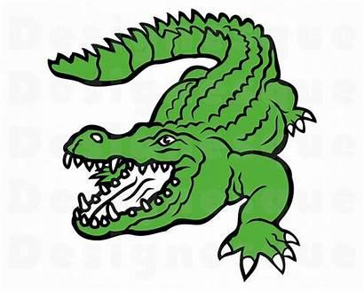 Crocodile Clip Clipart Alligator Svg Cricut Silhouette