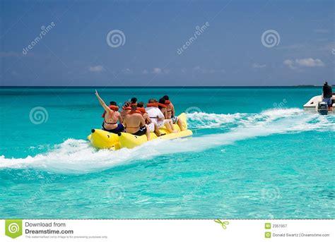 Banana Boat Ride Orange Beach Alabama by Banana Boat Stock Image Image Of Ride Ocean Inflatable