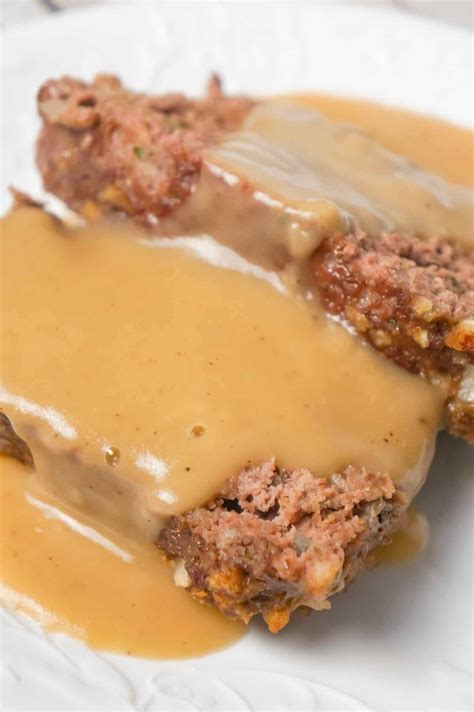 It takes all the best additions and puts it in one meatloaf that is topped with the most delicious glaze. Meatloaf with Gravy - This is Not Diet Food