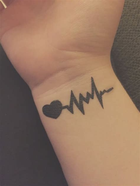 amazing heartbeat tattoo designs  man  woman