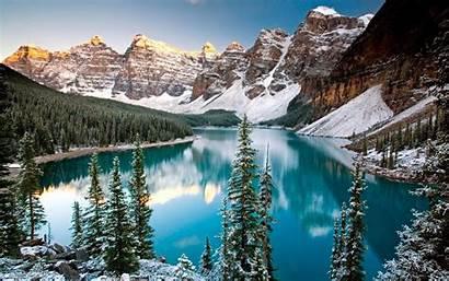 Winter Mountain Screensavers Lake Windows Wallpapersafari