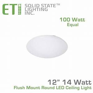 Dlc 4 0 Lighting Eti 12 Inch Flush Mount Round Led Ceiling Light 54074143