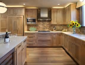 Kitchen Backsplash Ideas With Wood Cabinets by 51 Warm Wooden Kitchen Designs In Modern Classic Style
