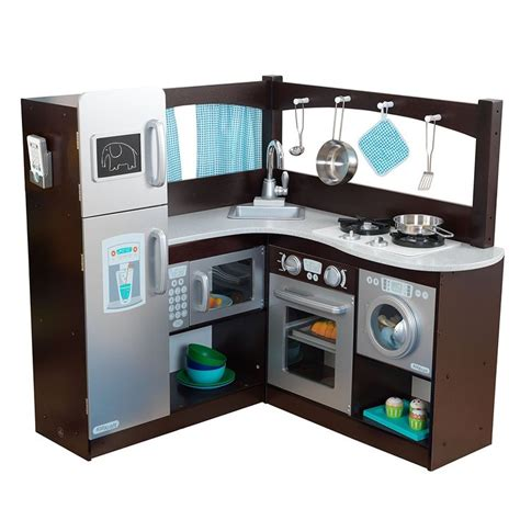 kidkraft grand espresso corner kitchen playset kitchen
