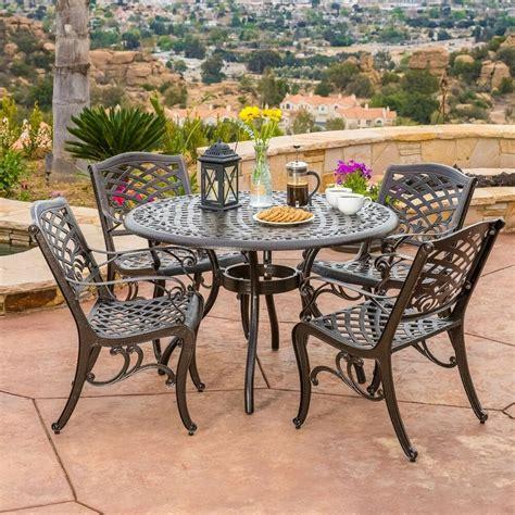 outdoor patio furniture pcs bronze cast aluminum dining