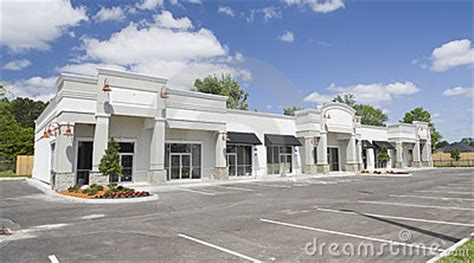 beige toned commercial strip mall stock images image
