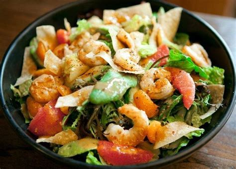 The Baja Shrimp Salad with shrimp cooked to order in our