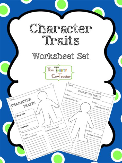 all worksheets 187 worksheets for character traits