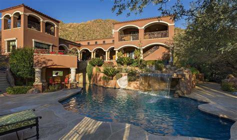 million spanish style mansion  scottsdale az   pools homes   rich