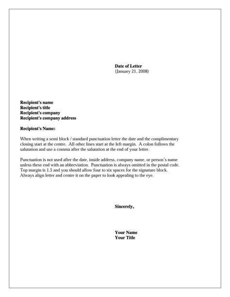 formal business letter format ideas  pinterest