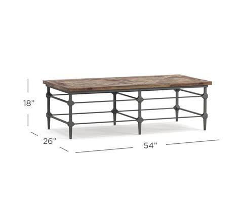 Shop more than 400 rustic reclaimed wood furniture designs for every room in the house. Parquet Rectangular Reclaimed Wood Coffee Table   Pottery Barn