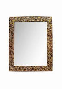 "Buy 30""x24"" Caramel Macchiato Glass Mosaic Framed Wall"