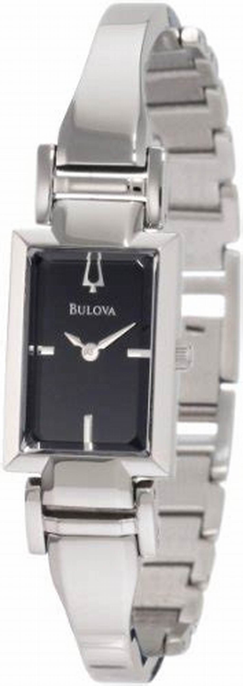#Bulova #Women'S #96L138 #Stainless #Steel #And #Black #Dial