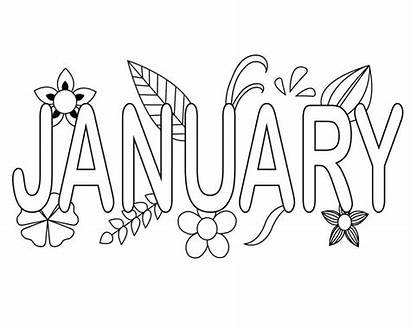 Coloring January Pages Printable Months Kindergarten Month
