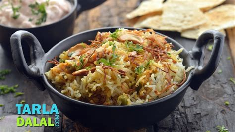 vegetable biryani  tarla dalal youtube