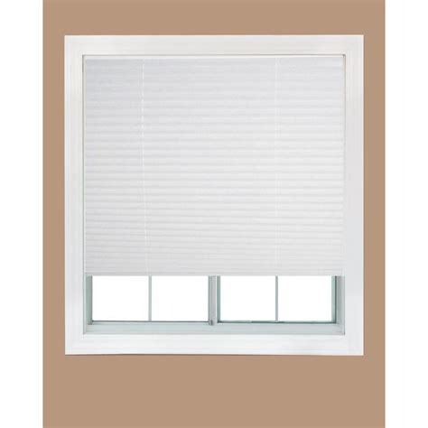 who sells l shades redi shade white fabric corded light filtering pleated