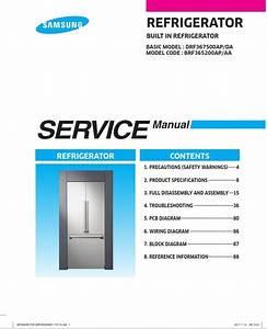 Samsung Brf365200a Refrigerator Service Manual And