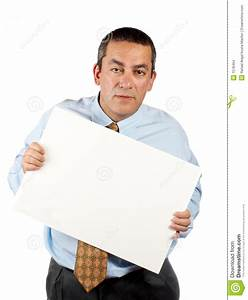 Holding The Blank Poster Stock Images - Image: 1578494