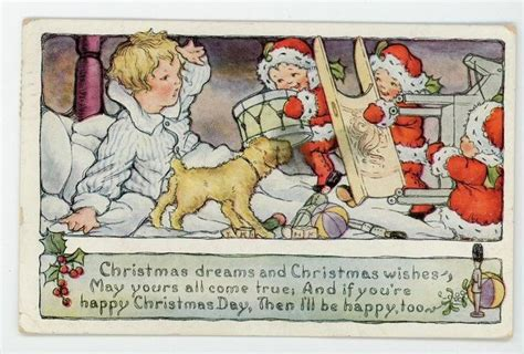 Santa Postcard Giving Toys To From Antique 19 Best Images About Antique Vintage Postcards On
