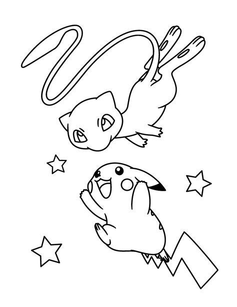 Kleurplaat Mew by Paradijs Kleurplaat Mew En Pikachu