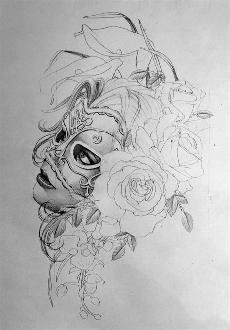 woman face drawing tattoo - Google Search   Drawing Ideas   Tattoos, Tattoo templates